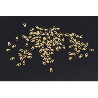 M3140 500個 ネイルパーツ メタルパーツ 板ダルマ 雫型 3.4×6.1mm ゴールド【約500ヶ】