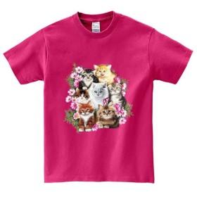 半袖Tシャツ 【子猫 ネコ 花】 by FOX REPUBLIC