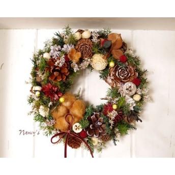 Nancy'sブラウンコットンクリスマスリース