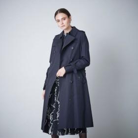 【サンヨーコート ウィメン(SANYOCOAT WOMEN)】 <100年コート>ダブルトレンチロングコート <100年コート>ダブルトレンチロングコート ネイビー
