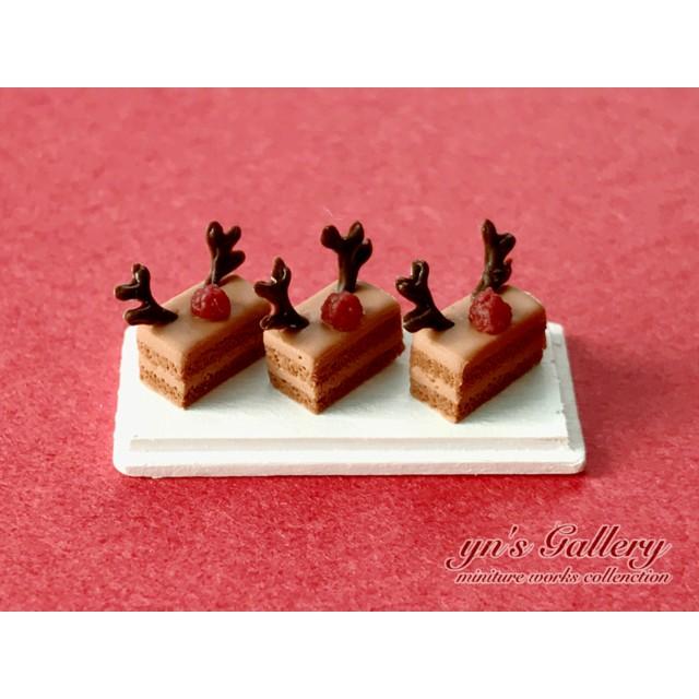 トナカイのキャラメルケーキ*ミニチュアスイーツ