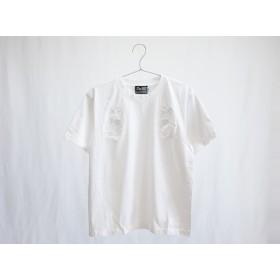 Tシャツ MIMOSA -ミモザ- ホワイト(白刺繍)