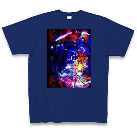 有効的異常症候群行動◆アート文字◆ロゴ◆ヘビーウェイト◆半袖◆Tシャツ◆ロイヤルブルー◆各サイズ選択可