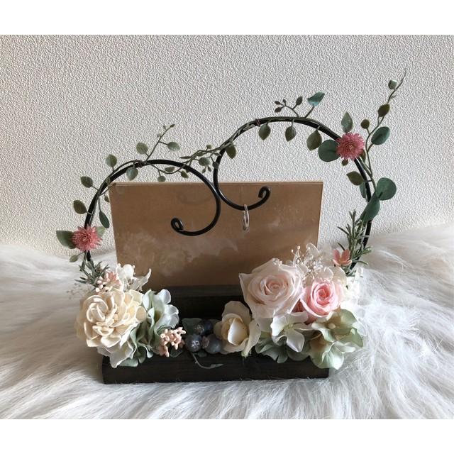 フラワーギフト フォトフレーム 写真立て 結婚祝い 誕生日プレゼント ブライダルピンク