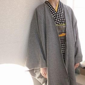 再販:粋☆きものジャケット(長め)・ウール/千鳥格子