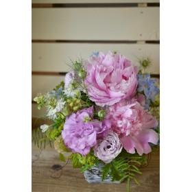母の日に贈るシャクヤクアレンジメント(生花)