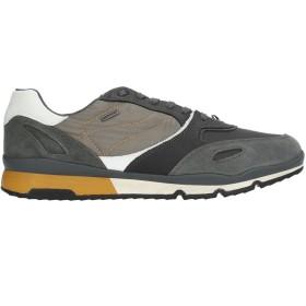 《セール開催中》GEOX メンズ スニーカー&テニスシューズ(ローカット) スチールグレー 39 革 / 紡績繊維