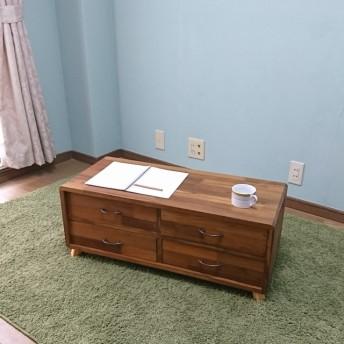 BOXテーブル:アイアンツマミ (引き出しローテーブル)