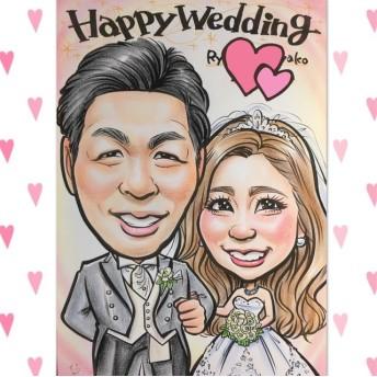 結婚式 ウェルカムボード 洋装・和装OK*♪似顔絵