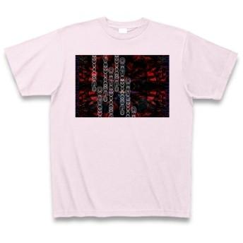 有効的異常症候群赤乱◆アート文字◆ロゴ◆ヘビーウェイト◆半袖◆Tシャツ◆ピーチ◆各サイズ選択可