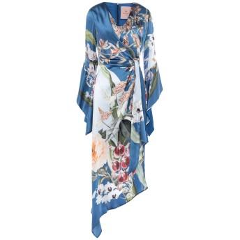 《セール開催中》KITAGI レディース ミニワンピース&ドレス ブルー 38 シルク 100%