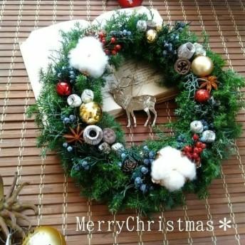 大人おしゃれな大きなクリスマスリース*クリスマス*外用
