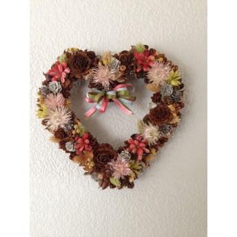 burosye gebinde 木の実と花のハートリース 23