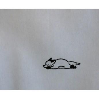 寝ているキツネはんこ