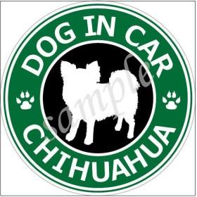 犬 (ロングコートチワワ)防水 ステッカー 車用