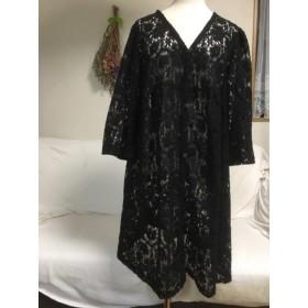 ブラックレースの羽織り物