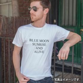 BLUE MOON SUNRISE AND ALIVE/メンズTシャツ/ホワイト