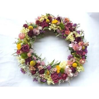 薔薇とグラスベティアのリース!Natural driedflower wreath