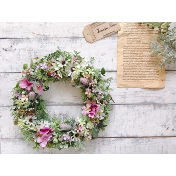 Spring has come2 小花の春色リース