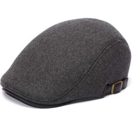 NAVIBULE ハンチング帽子 メンズ ウール 秋冬 防寒 千鳥柄 チェック 紳士 ベーシック 帽子 アウトドア ハンチング 56-60 cm グレー
