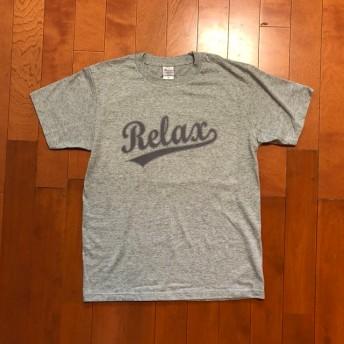 アメカジ ベースボール ロゴ Tシャツ グレー