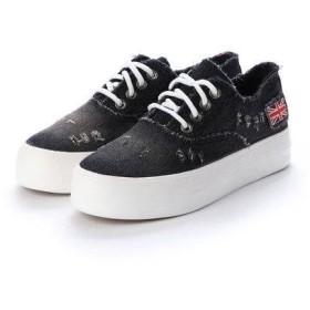 ジーアンドジー G&G レディースファッション パンプス スニーカー デニム 靴 シューズ カジュアル (ブラック)