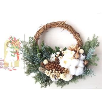 クリスマスのハーフリース*white