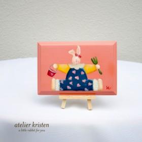 うさぎちゃんの壁かけ (ピンク)