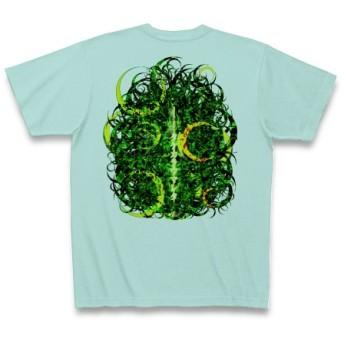 KAGUYAHIME3◆アート文字◆ロゴ◆ヘビーウェイト◆半袖◆Tシャツ◆アクア◆各サイズ選択可