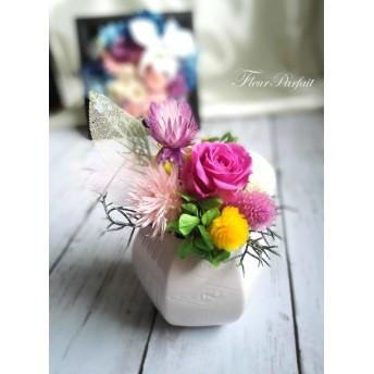 メモリーフラワー~プリザーブドフラワーの仏花・お供え花《パープルローズ》【受注製作】