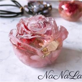 天然石とお花のオルゴナイト ROSE