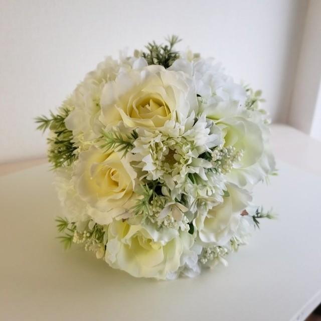新作 ブライダルブーケ ウェディングブーケ ブーケ ブートニア 結婚式 アーティシャルフラワー