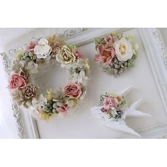 お花いっぱいの福袋♪ホワイト&モーヴ