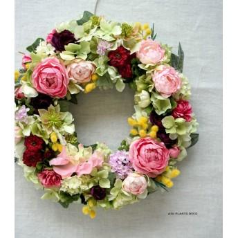 Rose Garden Wreath 26cm