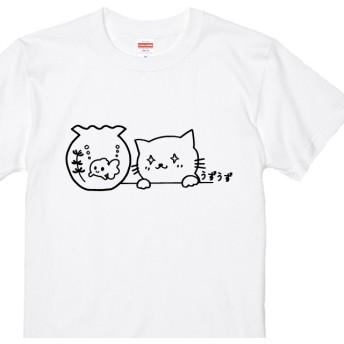 Tシャツ全3色 うずうずネコTシャツ 100~XXLサイズ 猫Tシャツ ねこTシャツ