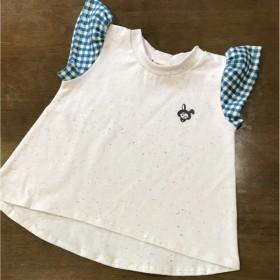 ハンドメイド ガールズTシャツ size90
