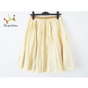 ドゥーズィエム DEUXIEME CLASSE スカート サイズ36 S レディース オレンジ×白 チェック柄 新着 20191010