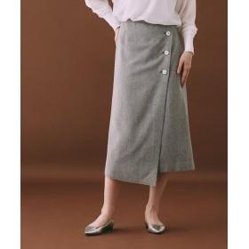 【公式/ナノ・ユニバース】OD/ボタンディティールラップスカート 5000円以上送料無料【ODORANTES】