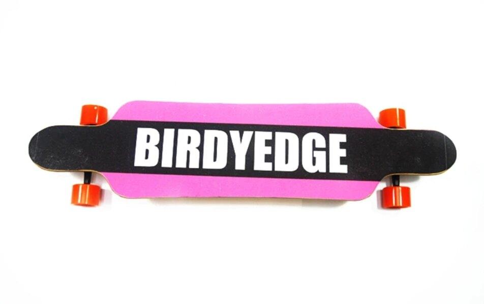 BIRDYEDGE 滑板 粉黑教主 七層楓木 長板 加大款 非電動款 彈性PU輪【無動力款】【迪特軍】
