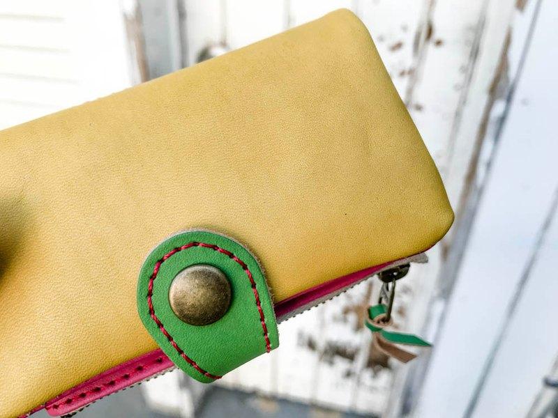 POCKET維他命色,可以放入卡片和硬幣的口袋口袋鑰匙包PPK-YPG-R