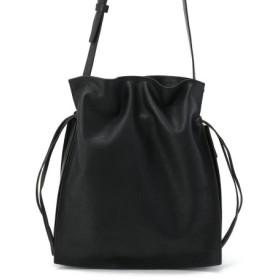(UNCUT BOUND/アンカットバウンド)SLOW(スロウ) horse pit - Draw string shoulder bag /ドローイングショルダーバッグ/レディース BLACK