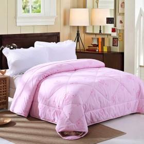 ピュアウールパッド入り冬用布団、ポリエステル布団カバー、ダブル/シングルサイズの寝具,Pink-150X200cm2.75kg