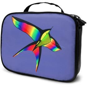 レインボーバードカイト 化粧バッグ 男女兼用化粧袋 洗面用品収納バッグ プレゼント大容量 多機能 普段使い 出張 旅行