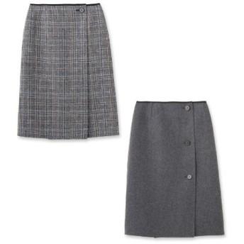 UNTITLED(アンタイトル)グレンチェックリバースカート