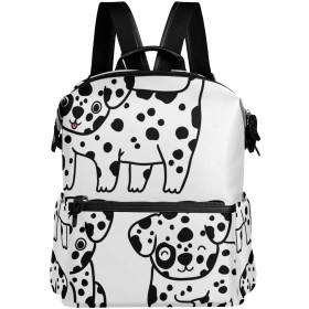 犬 ドット かわいい リュック 学生用 デイパック レディース 大容量 バックパック 男女兼用 機能性 大容量 防水性 デザイン 旅行 ブックバッグ ファション