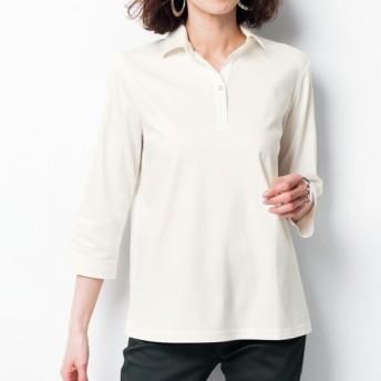 49%OFF【レディース】 衿付き7分袖Tシャツ(綿100%) ■カラー:マスタード ■サイズ:LL
