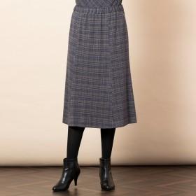 [マルイ]【セール】[大きいサイズ/LL-4L]くずしチェックジャカードフレアスカート[セットアップ対応]/フィットミーモア(Fitme Moi)