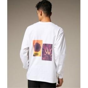 (EDIFICE/エディフィス)CHIBI. FLOWER BACK DOUBLE PRINT ロングスリーブTシャツ/メンズ ホワイト