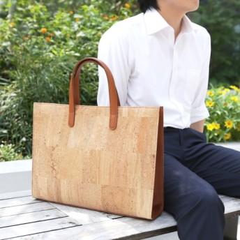 ウチヤマコルク◎コルク製ビジネストートバッグ【キャメル】