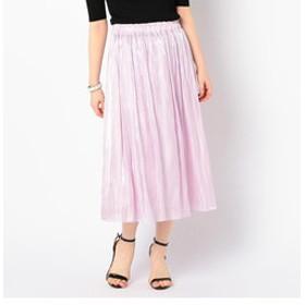 【NOLLEY'S:スカート】【WEB限定色】パールサテンギャザースカート